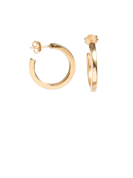 Square Edged Gold Hoop Earrings
