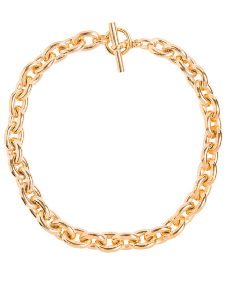 Large Gold Round Chain Necklace