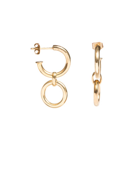 Small Gold Eternity Earrings