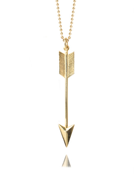 Large Gold Arrow Necklace