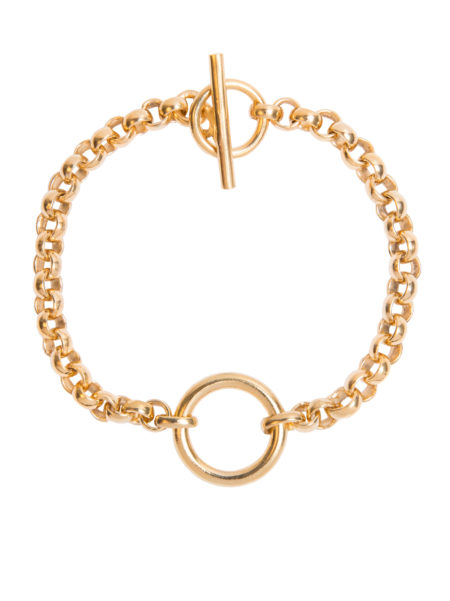 Large Gold Eternity Bracelet