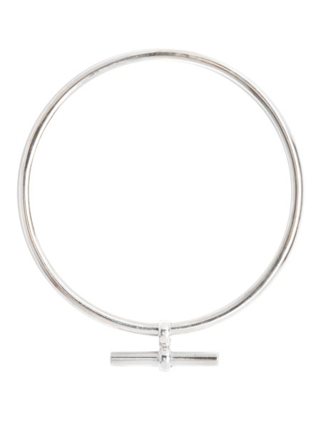 Small Silver T-Bar Bangle