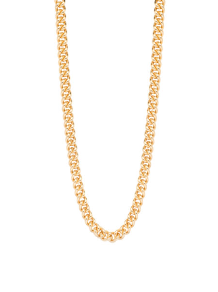 Slim Gold Curb Link Necklace