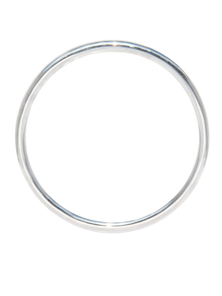 Medium Plain Silver Bangle