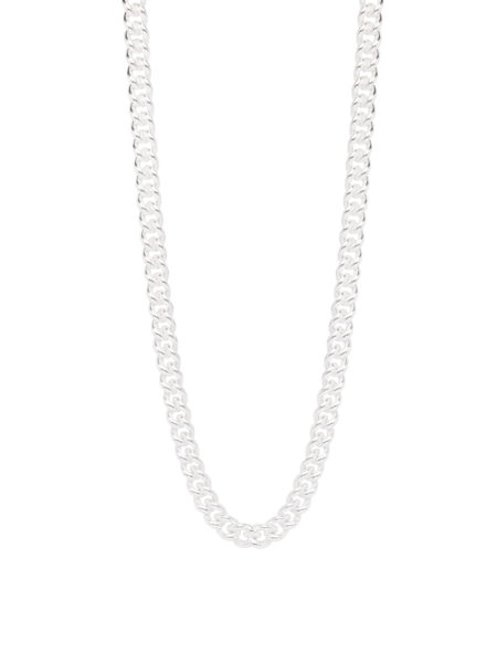 Slim Silver Curb Link Necklace