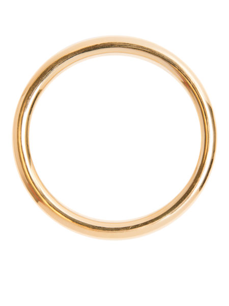 Large Plain Gold Bangle