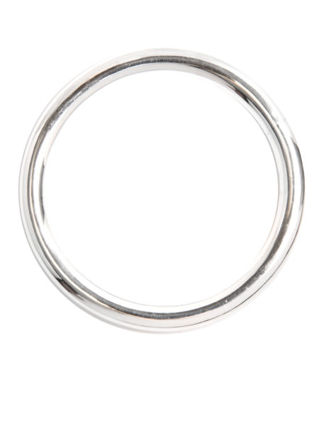 Large Plain Silver Bangle