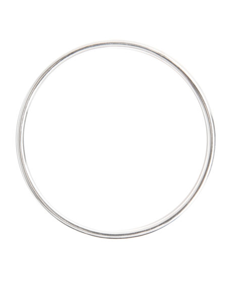 Small Silver Plain Bangle