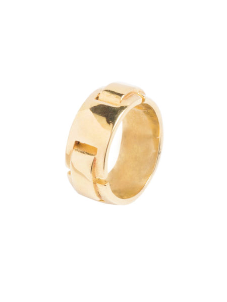 Gold Plated Buckle Ring