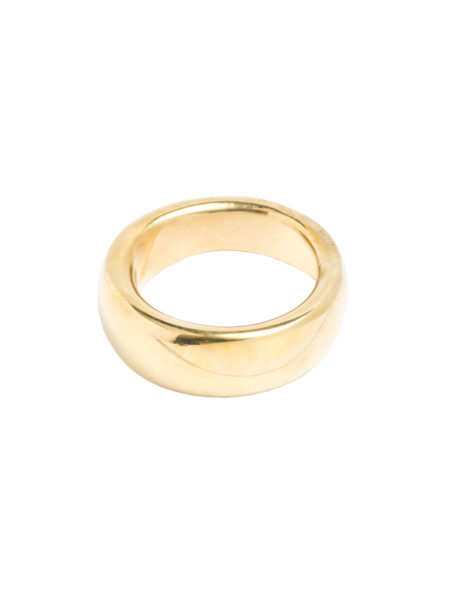 Smooth Brass Band Ring