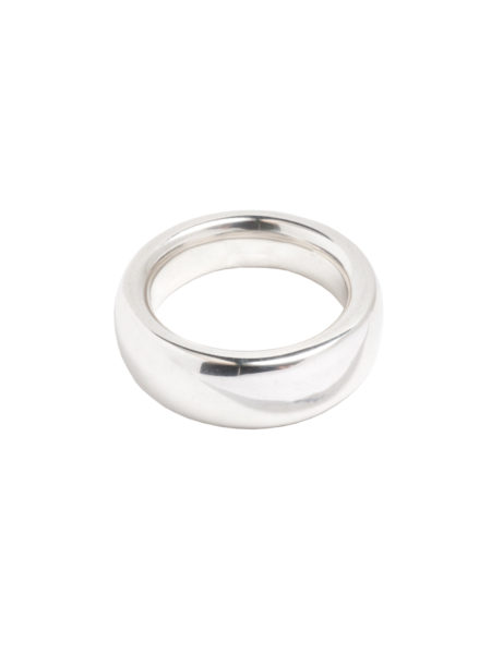 Smooth Silver Band Ring