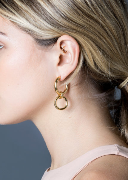 Medium Gold Eternity Earrings