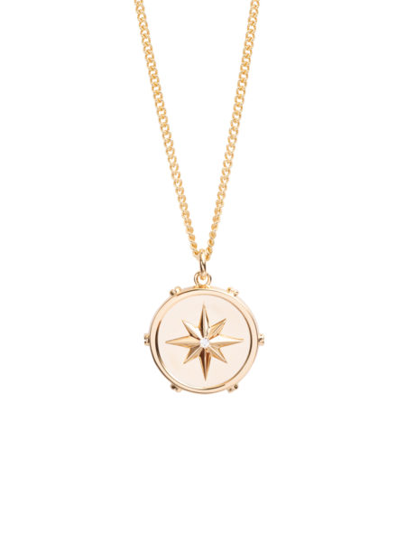 Large Gold Guiding Star Necklace