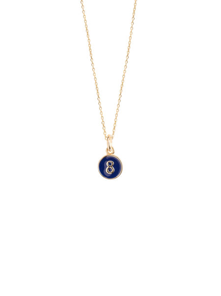 Navy Blue Enamel 8 Necklace