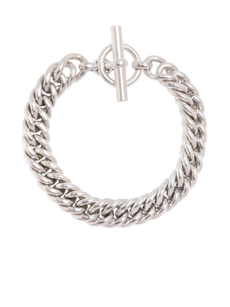 Men's Large Silver Curb Link Bracelet