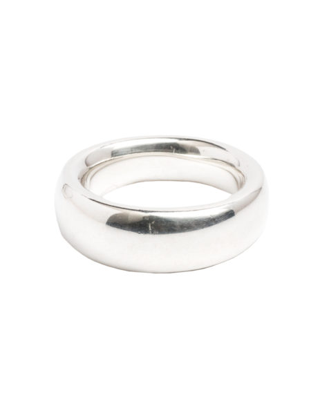 Men's Slim Silver Band Ring