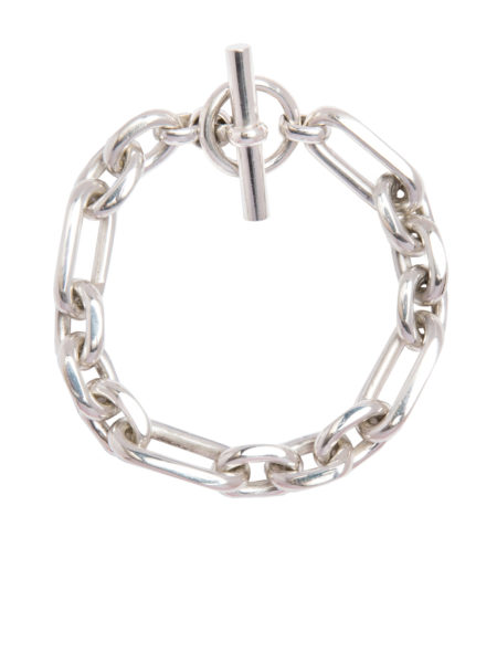 Large Silver Watch Chain Bracelet