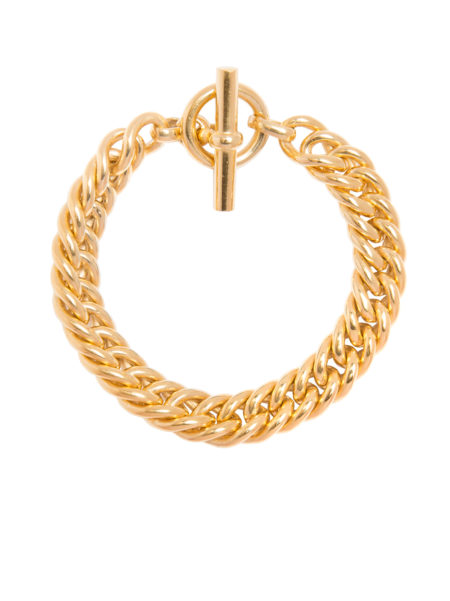 Men's Large Gold Curb Link Bracelet