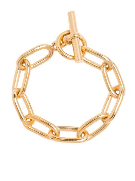 Small Gold Oval Linked Bracelet