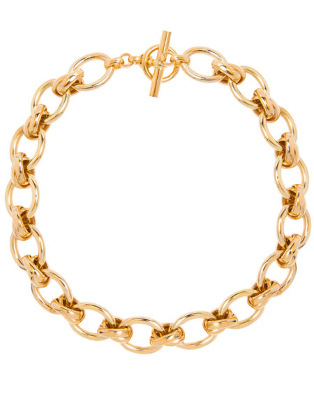 Giant Gold Double Linked Necklace