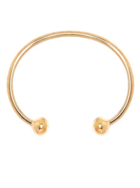 Large Gold Torque Bangle