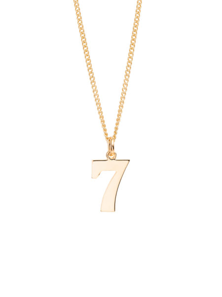 Gold Number 7 Necklace