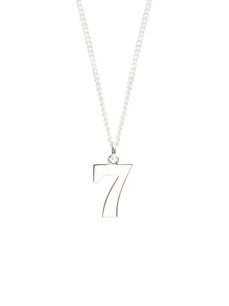 Men's Silver Number 7 Necklace