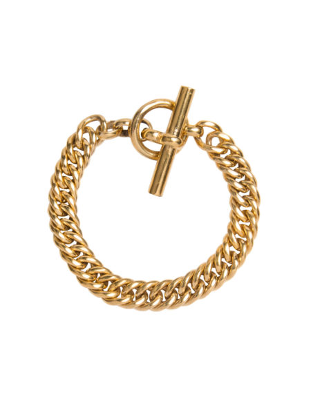 Small Gold Curb Link Bracelet