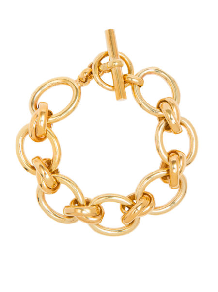 Giant Gold Double Linked Bracelet