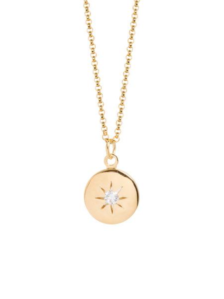 Diamond Disc on Belcher Chain