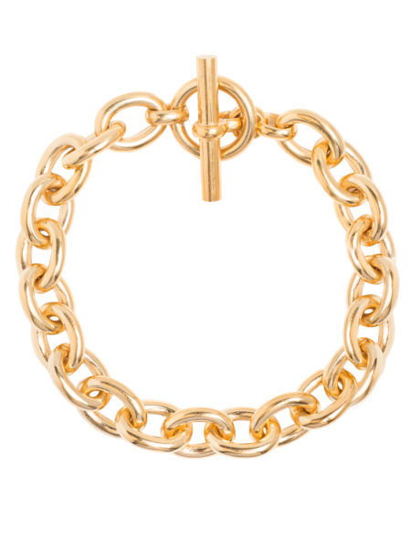 Small Gold Round Linked Bracelet