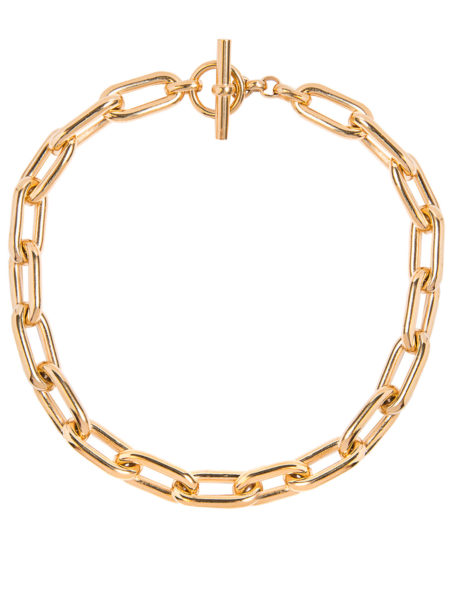 Large Gold Oval Chain Necklace