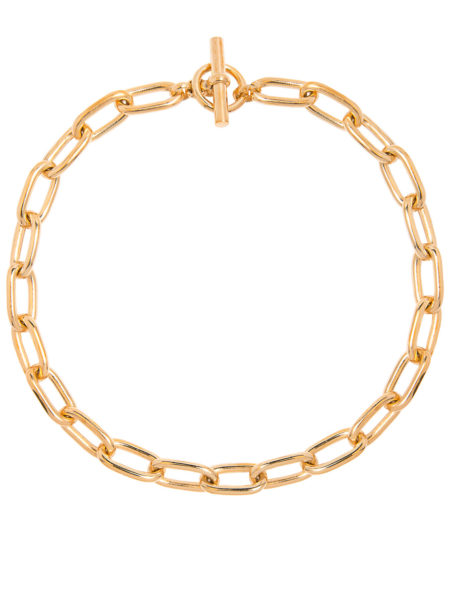 Medium Gold Oval Chain Necklace
