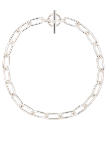 Medium Silver Oval Linked Necklace
