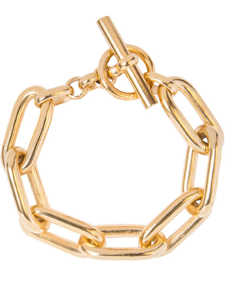 Large Gold Oval Linked Bracelet