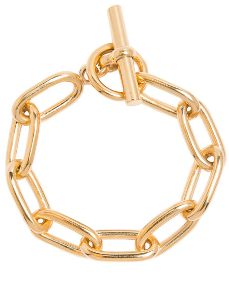 Medium Gold Oval Linked Bracelet