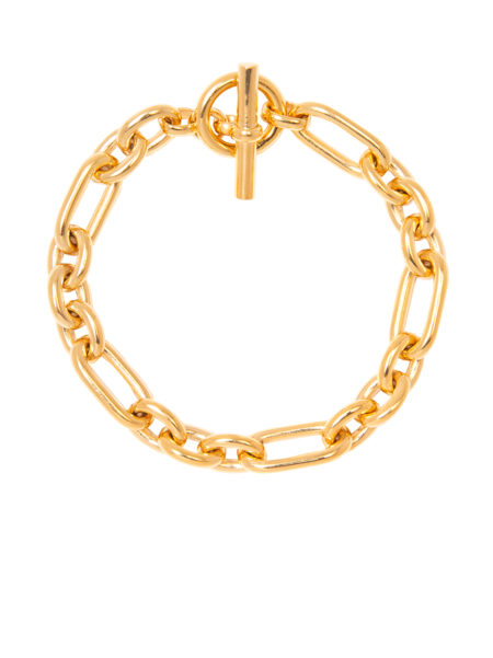 Smooth Gold Watch Chain Bracelet