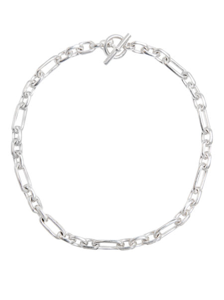 Small Silver Plated Watch Chain Necklace