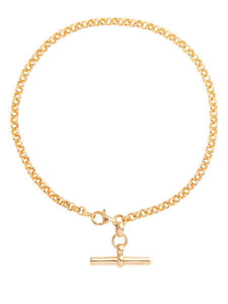 Gold T-Bar Anklet