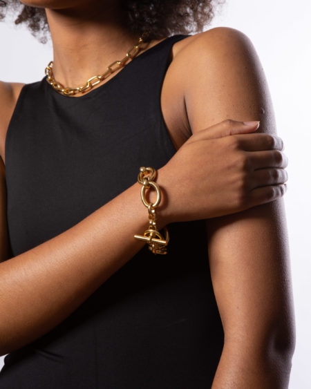 Giant Gold Interlock Bracelet
