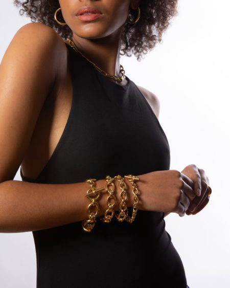 Giant Gold Interlock Bracelet