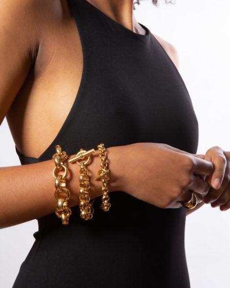 Giant Gold Rolo Link Bracelet