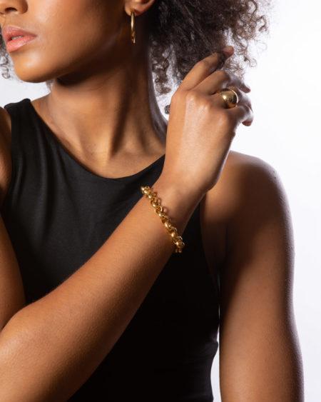 Small Gold Rolo Link Bracelet