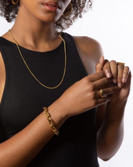 Gold Triple Link Bracelet