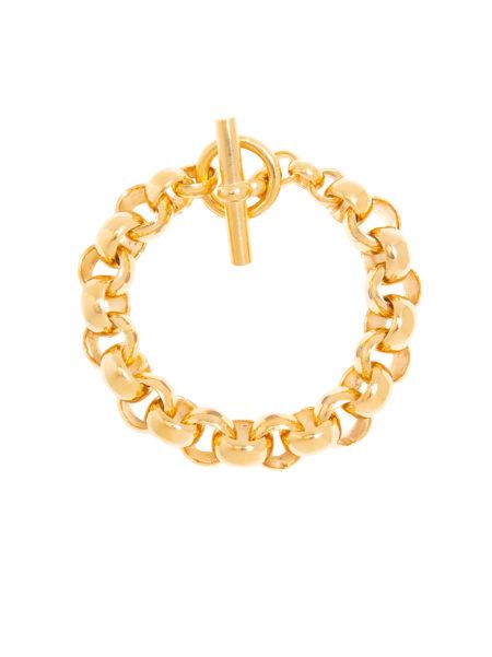 Large Gold Rolo Link Bracelet