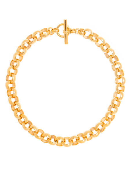 Large Gold Rolo Link Necklace