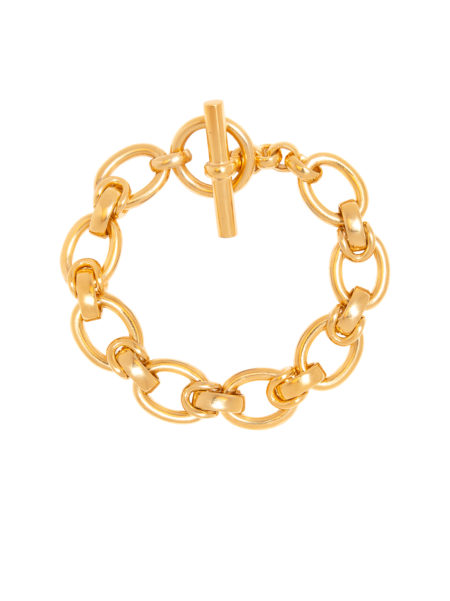 Large Gold Interlock Bracelet