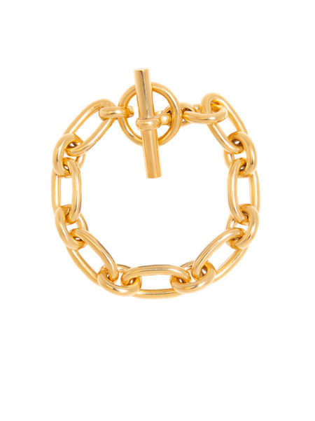 Small Gold Tread Link Bracelet
