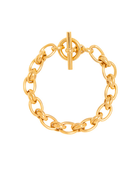 Small Gold Double Link Bracelet