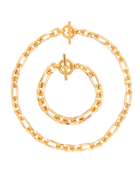 Small Gold Watch Chain Set